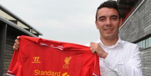 Фотография Яго Аспаса (с) Liverpoolfc.com