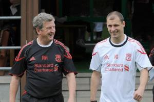 Рой Ходжсон и Милан Йованович (с) Liverpoolfc.tv