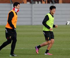 Фото Луиса Суареса и Филиппе Коутиньо (с) Liverpoolfc.com