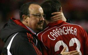 Рафа Бенитес и Джейми Каррагер (c) Goal.com