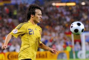 Давид Сильва в матче Евро-2008 (c) Mirror