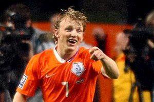 Дирк Кёйт в футболке сборной Голландии (c) Zimbio