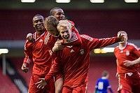 Игроки молодёжной команды «Ливерпуля» празднуют гол (c) Propaganda Photo