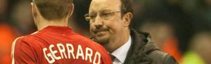 Стивен Джеррард получает травму в матче с «Лионом» (c) LiverpoolFC.tv