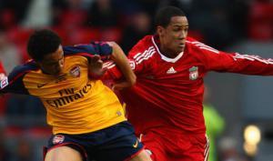 Томас Инс в матче Академии против «Арсенала» (c) Zimbio