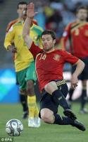 Шаби Алонсо в матче против ЮАР на Кубке Конфедераций (c) Daily Mail