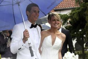 Даниэль Аггер и его жена София (c) Liverpool Echo