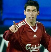 Дани Пачеко в матче против резервов «Манчестер Сити» (c) LiverpoolFC.tv
