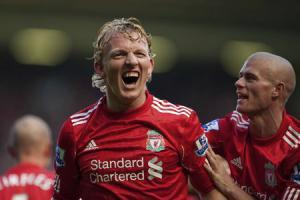 Дирк Кёйт и Пол Кончески празднуют гол в ворота «Сандерленда» (c) LiverpoolFC.tv