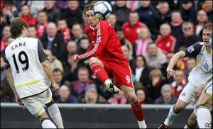 Фернандо Торрес забивает великолепный гол «Сандерленду» (c) BBC