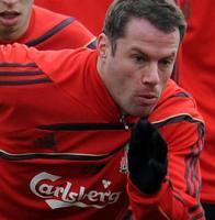 Джейми Каррагер на тренировке (c) LiverpoolFC.tv