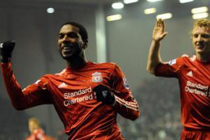 Райан Бабел празднует гол (c) LiverpoolFC.tv