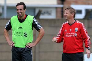 Хосе Энрике и Кевин Кин (c) LiverpoolFC.tv
