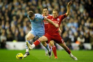 Лукас Лейва в матче против «Манчестер Сити» (c) LiverpoolFC.tv