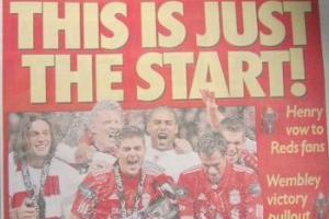 Первая полоса Liverpool Echo