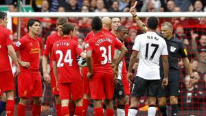 Джонджо Шелви получает красную карточку (c) Sportige.com
