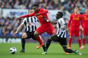 Дэниел Старридж в матче против «Ньюкасла» (c) LiverpoolFC.tv