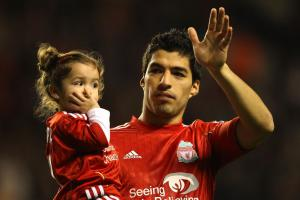 Луис Суарес с дочерью (c) Getty Images