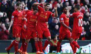 Игрок «Ливерпуля» празднуют гол в ворота «Кардифф Сити» (c) Express