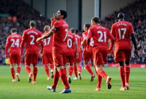 Игрок «Ливерпуля» празднуют гол в ворота «Кардифф Сити» (c) LiverpoolFC.com