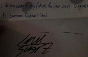 Фальшивый «контракт» Луиса Суареса с «Ливерпулем»