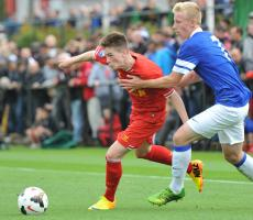 Райан Кент в матче против «Эвертона» (c) LiverpoolFC.com