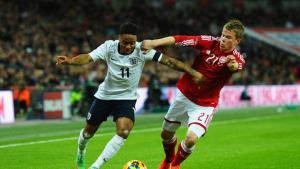 Рахим Стерлинг в матче против сборной Дании (c) Sky Sports