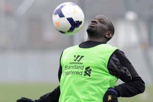Мамаду Сако на тренировке (c) Liverpool Echo