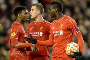 Джордан Хендерсон, Марио Балотелли и Дэниел Старридж (c) Liverpool Echo