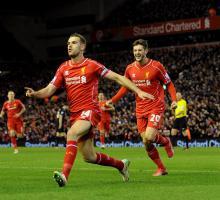 Джордан Хендерсон и Адам Лаллана (c) Liverpool Echo