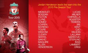 Состав «Ливерпуля» на азиатское турне 2015 года (c) LiverpoolFC.com