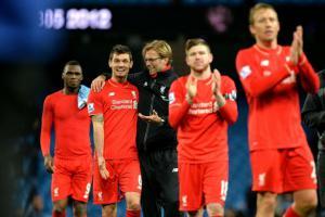 Деян Ловрен и Юрген Клопп после победы над «Манчестер Сити» (c) Liverpool Echo