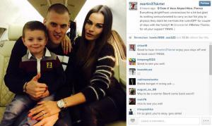 Мартин Шкртел с семьёй (c) Instagram