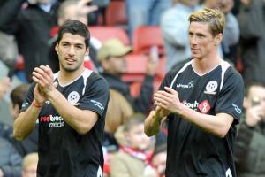 Луис Суарес и Фернандо Торрес (c) Liverpool Echo