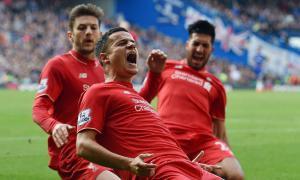 Филиппе Коутиньо празднует гол (c) LiverpoolFC.com