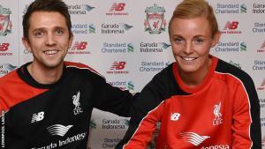 Скотт Роджерс и Софи Ингл (c) LiverpoolFC.com