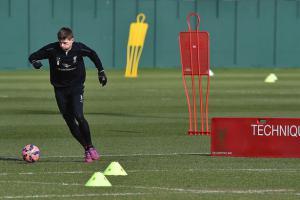 Стивен Джеррард на тренировке (c) Liverpool Echo