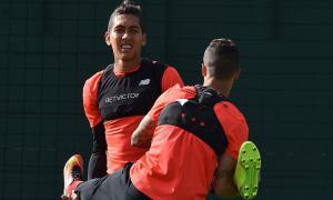 Роберто Фирмино и Филиппе Коутиньо (c) LiverpoolFC.com