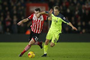 Лукас Лейва в матче против «Саутгемптона» (c) Liverpool Echo
