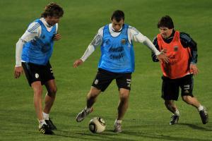 Фото Хавьер Маскерано в сборной Аргентины