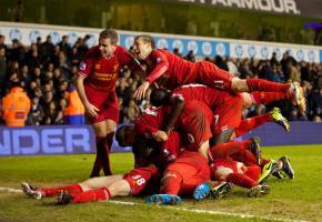 «Ливерпуль» празднует гол в ворота «Тоттенхэма» (c) LiverpoolFC.com
