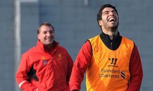 Брендан Роджерс и Луис Суарес (с) John Powell/Liverpool FC via Getty Images