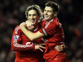 Фото Стивен Джеррард и Фернандо Торрес (с) Sky Sports