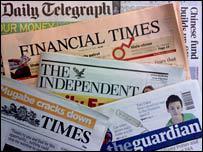Заголовки английских газет