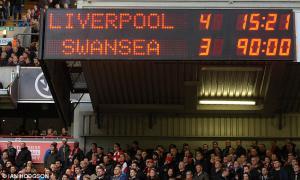 Фото счета матча Ливерпуль-Суонси