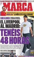 Обложка испанской Marca с фотографией Алонсо (с) dailymail.co.uk