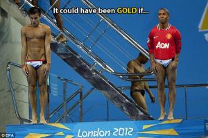 Эшли Янг ныряет на Олимпиаде