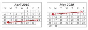Календарь с изменёнными датами матчей