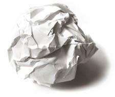 Скомканный лист бумаги