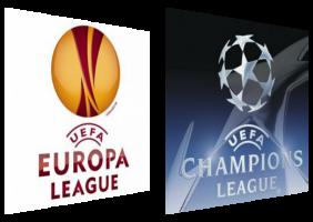 Логотипы Лиги Европы и Лиги чемпионов (c) Liverbird.ru